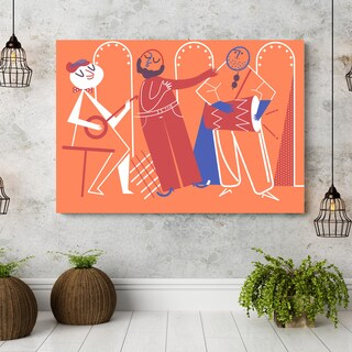 'Bossa Nova' Canvas Wall Art - Orange
