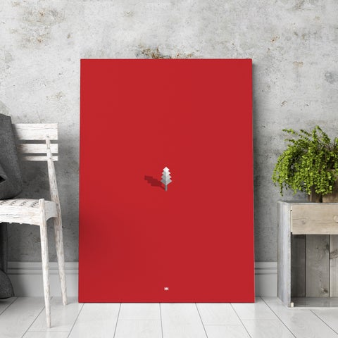 'Simply Red' Canvas Wall Art - Red