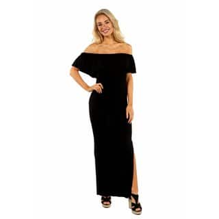 24/7 Comfort Apparel Long Cool Woman Off the Shoulder Dress|https://ak1.ostkcdn.com/images/products/14659862/P21196590.jpg?impolicy=medium