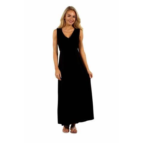 24/7 Comfort Apparel Island Fire Maxi Dress