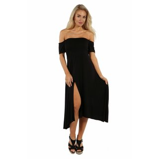 24/7 Comfort Apparel Star Sweep Off Shoulder Dress