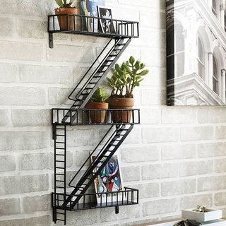Design Ideas FireEscape Wall Mounted Shelf