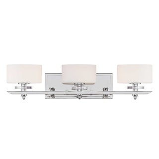 Oneida 3-Light Polished Nickel Bath Vanity - Thumbnail 0