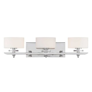 Oneida 3-Light Polished Nickel Bath Vanity