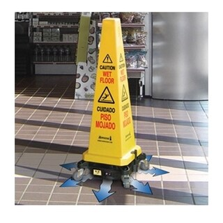 HURRICONE Battery Floor Dryer with Safety Cone attached