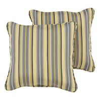 Janey Sunbrella Foster Metallic Indoor/ Outdoor Corded Pillow Set