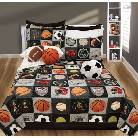 All-Star Printed 3-piece Quilt Set