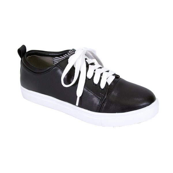 Fic Fuzzy Women's Anita Wide Width Casual Plimsoll Styled Everyday Walking Shoes. Opens flyout.