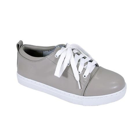Fic Fuzzy Women's Anita Wide Width Casual Plimsoll Styled Everyday Walking Shoes