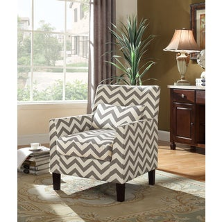 Best Master Furniture Grey and White Fabric Accent Chair