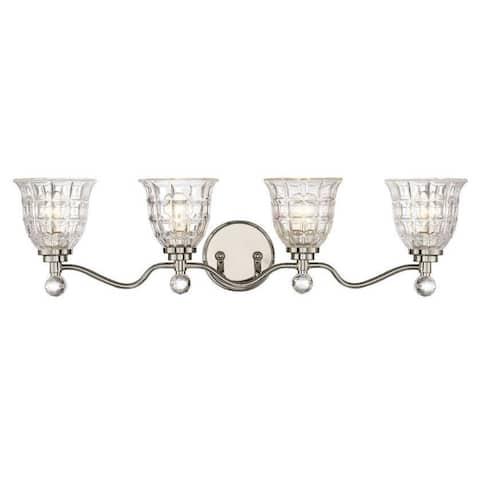 Silver Orchid Pitts 4-light Nickel Bath Vanity