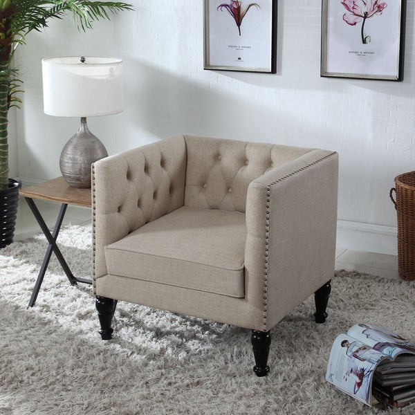 Best Master Furniture Tufted Chair And A Half Free Shipping Today 14660466