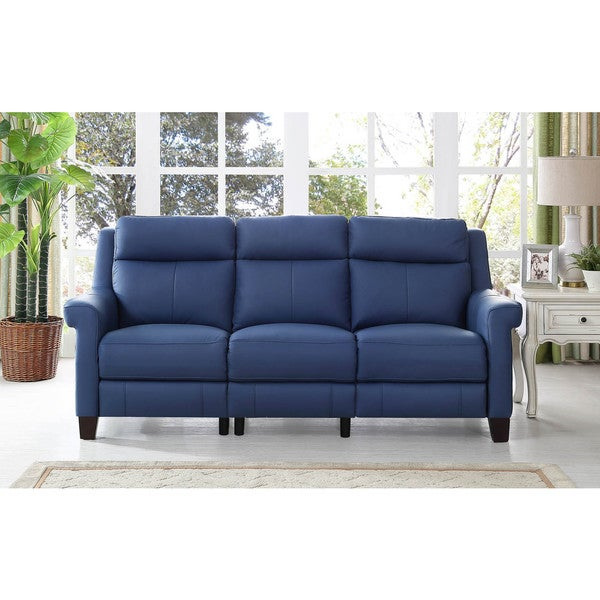Hydeline By Amax Dolce Top Grain Leather Power Reclining Sofa