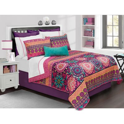 Aiyana Printed 3-piece Quilt Set