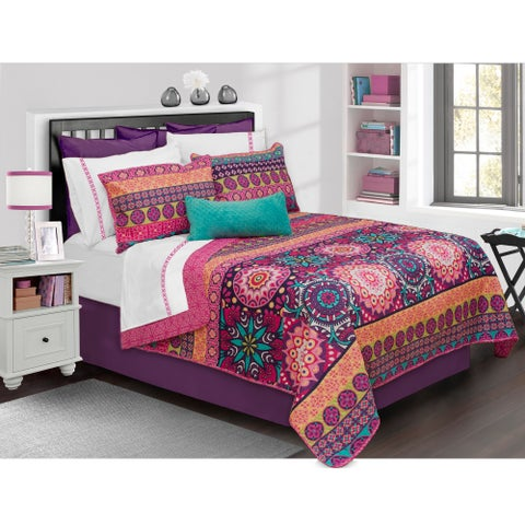 Aiyana Printed 3-piece Quilt Set