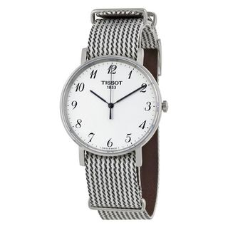 Tissot Men's T1094101803200 'T-Classic Everytime' Two-Tone Nylon Watch