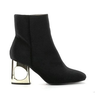 Cape Robbin Women's Carla Black Velvet Boots