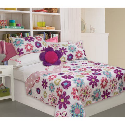 Holly Printed 3-piece Quilt Set - Multi