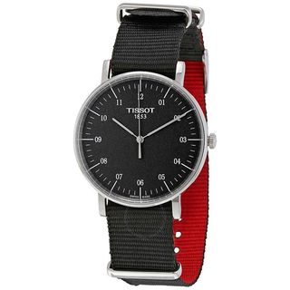 Tissot Men's 'Everytime' Black Nylon Watch