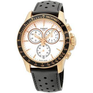 Tissot Men's T1064173603100 'V8' Chronograph Black Leather Watch