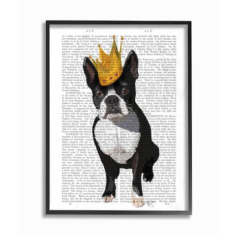 'Classic Novel Royal Terrier Puppy' Framed Giclee Texturized Art