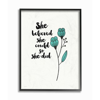 Stupell 'She Believed She Could So She Did' Framed Giclee Texturized Art