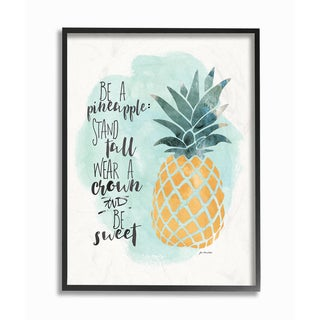 Stupell 'Be a Pineapple' Illustration Framed Giclee Texturized Art