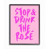 Stupell 'Stop and Drink the Rose' Framed Giclee Texturized Art
