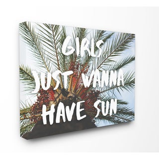 Stupell 'Girls Just Wanna Have Sun' Stretched Canvas Wall Art - Multi
