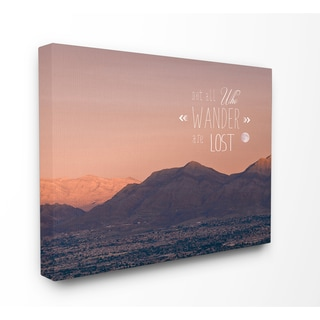 'Lost Mountain Wandering' Stretched Canvas Wall Art