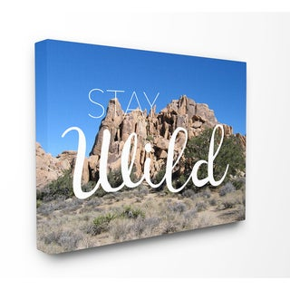 Stupell 'Stay Wild' Desert Landscape Stretched Canvas Wall Art