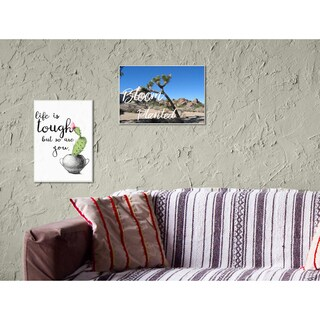 Stupell 'Bloom Where You're Planted Joshua Tree' Stretched Canvas Wall Art