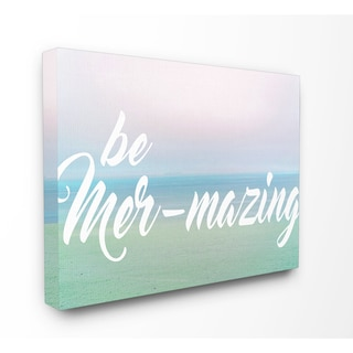 Stupell 'Be Mer-Mazing' Tropical Sunset Stretched Canvas Wall Art