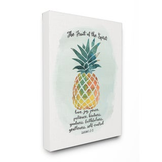 'The Fruit of the Spirit' Pineapple Stretched Canvas Wall Art