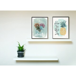 Stupell 'Be a Pineapple' Illustration Typography Stretched Canvas Wall Art