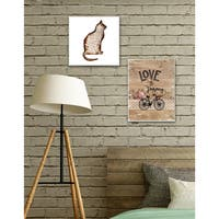 Stupell 'Love the Journey' Stretched Canvas Wall Art