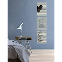 Stupell All of Me Loves All Of You Distressed Heart Stretched Canvas Wall Art