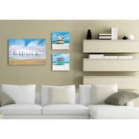 Stupell Sailboat Regatta Stretched Canvas Wall Art