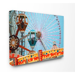 Stupell 'Ferris Wheel Tilt A Whirl' Multicolored Stretched Canvas Photography Wall Art