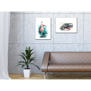 'Rainbow Crab' Canvas Stretched Wall Art