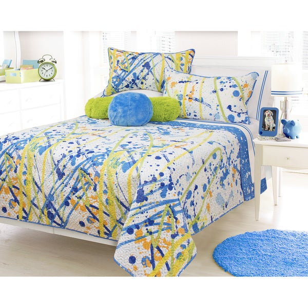 Splash Printed 3-piece Quilt Set