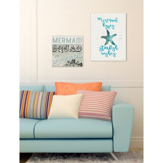 Stupell 'Mermaid Kisses Starfish Wishes' Plaque Wall Art