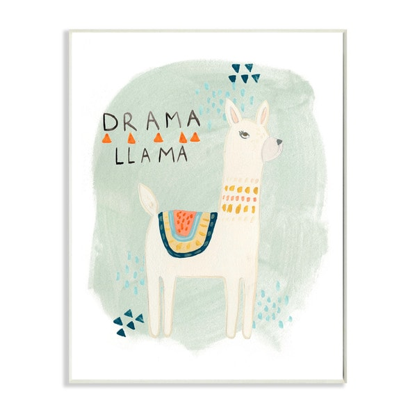 Stupell 'Drama Llama' Wall Plaque Art