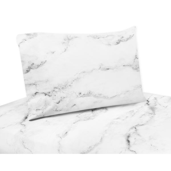 Shop Black And White Marble Collection Twin Queen And