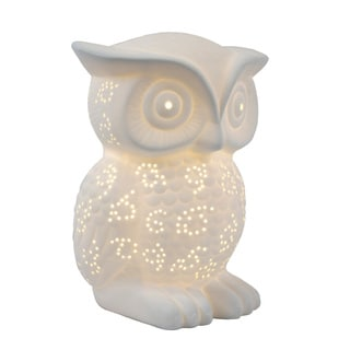 Simple Designs Porcelain Wise Owl-shaped Animal Light Table Lamp