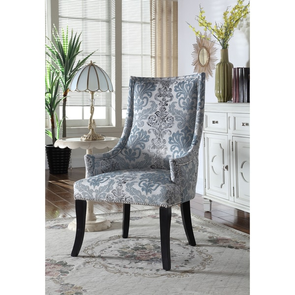 Sensational Best Master Furniture Teal Grey Fabric Accent Chair Machost Co Dining Chair Design Ideas Machostcouk