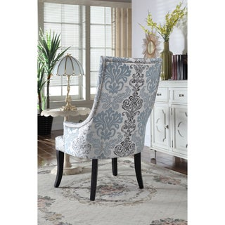 Best Master Furniture Teal Grey Fabric Accent Chair