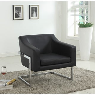 Best Master Furniture Modern Helix Leather Arm Chair