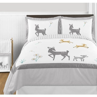 Sweet Jojo Designs Forest Deer Collection Full/Queen 3-piece Comforter Set