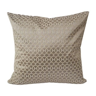 Home Accent Pillows Gold and Copper Geometric 20-inch Throw Pillow